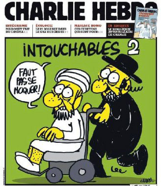 Latest copy of Charlie Hebdo whose 10 Journalists were murdered including the editor-in-chief